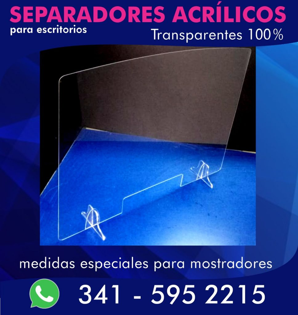 separadores de acrílico para escritorio covid-19