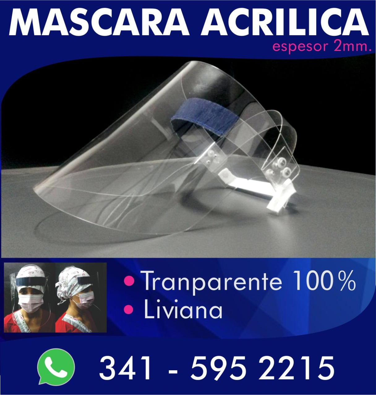 Máscara Acrílica COVID-19