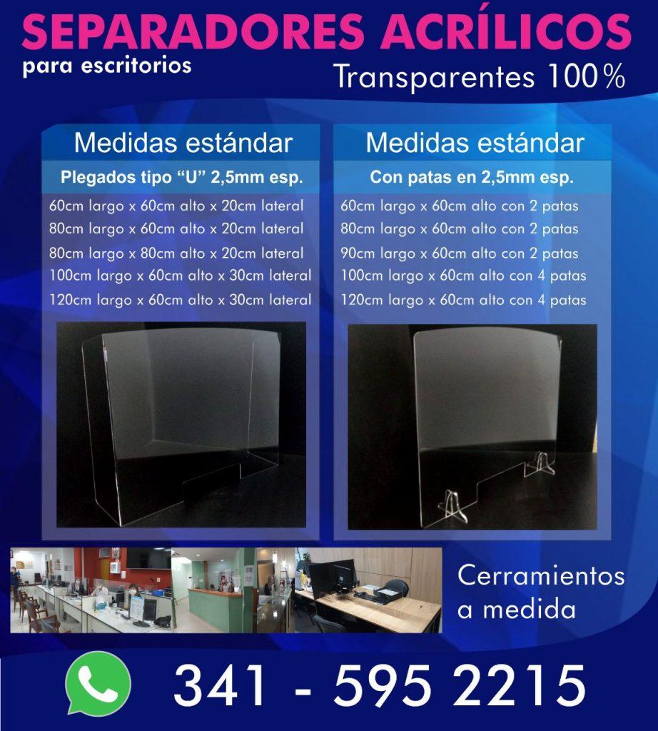 separadores de escritorio covid-19